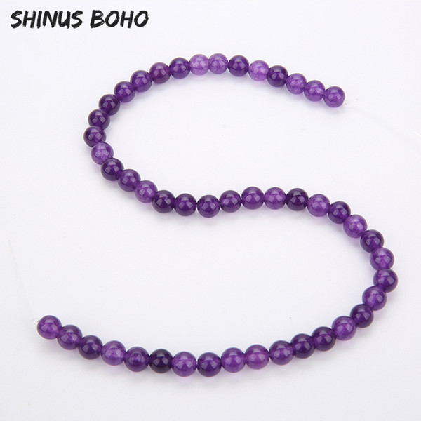 SHINUSBOHO Bulk Pure Natural Light Crystal Beads for Jewelry Hand Making Diy Accessories Loose Spacer Round Beads Wholesale