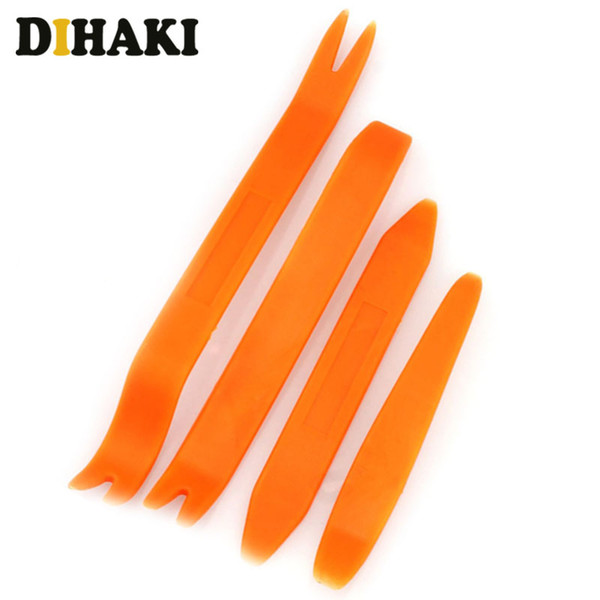 4Pcs Car Door Clip Panel Removal Tools Audio Video Dashboard Dismantle Kits Installer Pry Tool Plastic Trim Panel Repair Tools