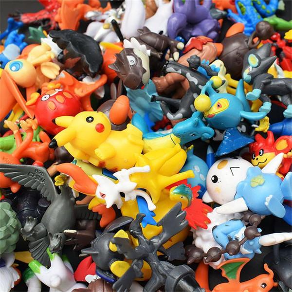 48pcs /Lots Kids Toys Pokeball Action Figures Pikachu Anime Pokeball Toys Mixed 2 -3cm Mini Random Mini Figurine Toys For Children