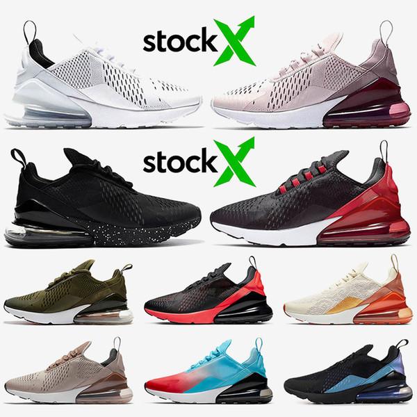 nike air max 270 koşu ayakkabıları Stok x 270S kadın erkek 27c Çekirdek Beyaz Barely Gül Triple ler Siyah Zeytin Sepya Taş tenis eğitmenleri spor ayakkabıları yetiştirilen