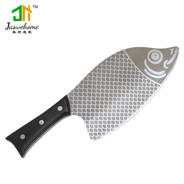 Higt End Stainless Steel Chef Knife Kitchen Knife With Wood Handle Fish Shaped Sharp Kitchen Knife For Chop Bone Fish