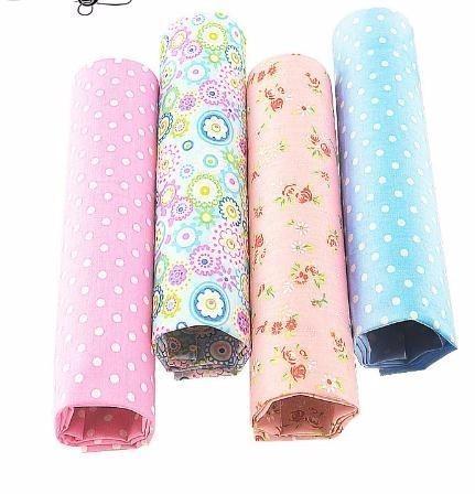 2019 Cotton Fabric 4PCS/lot 40cmx50cm floral dots patterns quilting patchwork sewing clothes bedding tissus tilda
