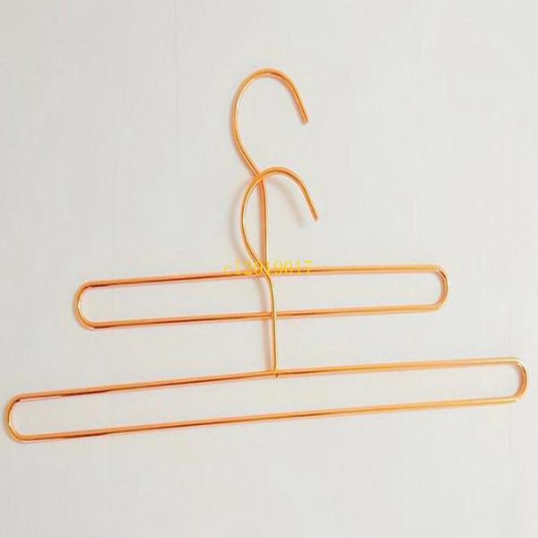 100pcs Nordic Style Iron Wire Metal Towl Hanger Rose Gold Children Baby Bath Towel Socks Clothes Storage Hangers Rack