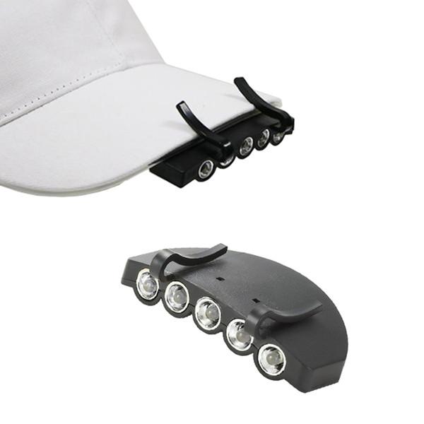 Al aire libre Ultra Brillante Impermeable LED Sombrero Clip de luz en Sunsbell LED Cap Light Cap Visera Luz Batería faro alimentado