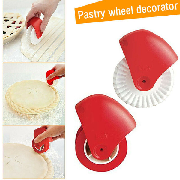 Creative Pizza Pastry Lattice Cutter Pastry Pie Decor Cutter Baking Cutter Tools Plastic Wheel Roller For Pizza Pastry Pie Crust Baking tool