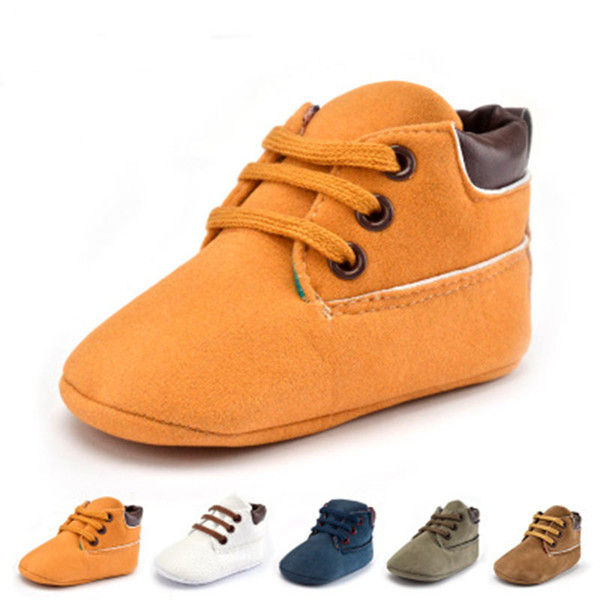 European Style Slip-On Babies Shoes For Baby Girl First Walkers Leather Baby Shoes Fashion Newborn Shoes With Solid All Seasons