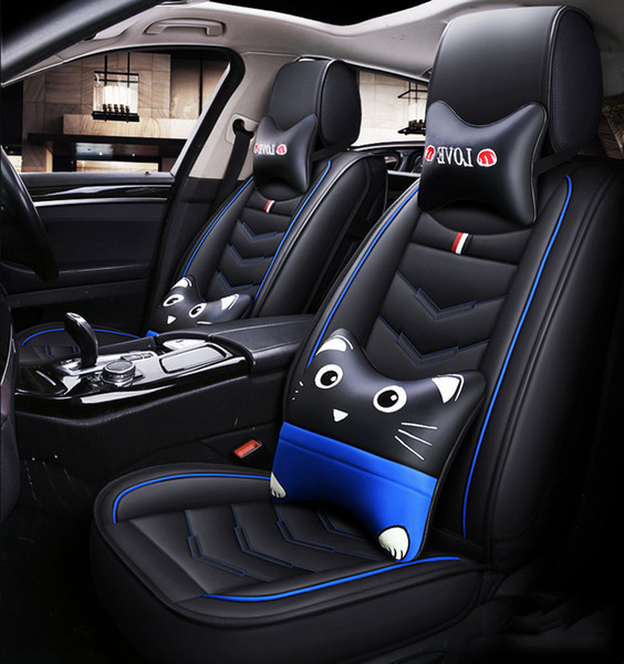2020 New Cartoon Luxury Leather Car Seat Covers For Bmw 1 3 5 Series X1 X3 X5 X6 Accessories Protector Universal Full Interior Best Seat Covers For