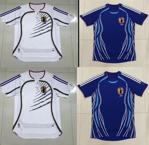2006 Retro versione Japan Soccer Jersey casa # 8 Nakata # 11 # 10 Kazu Nanami # 9 NAKAYAMA camicia di calcio 1998 Uniformi Mondiali di calcio