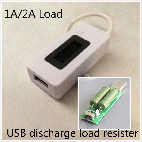 LCD Screen Charger USB Tester Portable Monitor Power Bank Battery Detector Current Voltage Meter + USB discharge load resistor