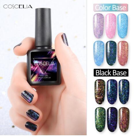 Yeni 10 ML Bukalemun Galaxy UV Tırnak Jel Lehçe DIY Glitter Nail Art Led UV Lehçe Led Lamba Sequins Tırnak Vernik