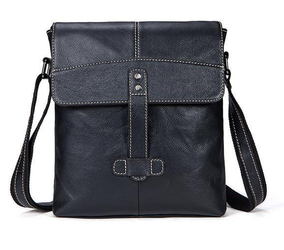 Nice New Genuine Leather Mens Bag Casual Mens Messenger Bag The First Layer Of Cow Leather Messenger Vertical Shoulder
