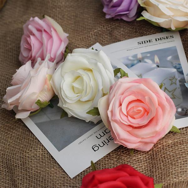 8-9CM головка Multicolor PE Роза пены Мини букет Сплошной цвет / Скрапбукинг Искусственная пена Роза Цветы