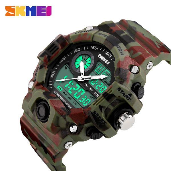 Nova marca skmei homens esportes relógios digital de quartzo led militar relógio multifuncional relógios de pulso relogio masculino