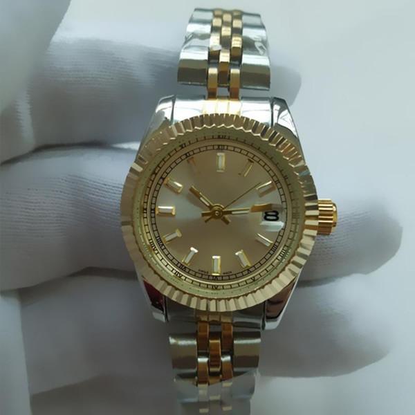 2018 Luxury Women Dress Watches 26mm Elegant Stainless Steel Rose Gold Watches High Quality Lady Rhinestone Quartz Wristwatches
