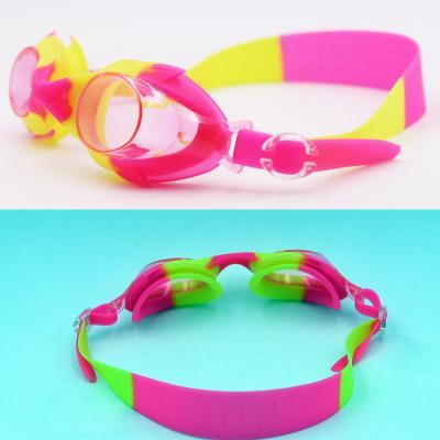 top popular New Style Kids Neon silica gel fish shark safe protection Anti Fog Swimming Goggles Professional Arena Racing Game Waterproof Swim Glasses 2020