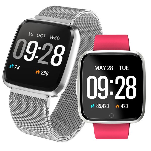 Fitness Tracker Y7 Pulsera Inteligente para Apple Reloj Deportivo Rastreador de Ritmo Cardíaco Impermeable para Fitbit Xiaomi IOS Android Celulares