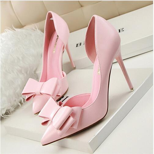 Wholesale high-quality fashionable spring and autumn women's sexy high-heeled shoes in various colors can choose blue, white, yellow, pink,
