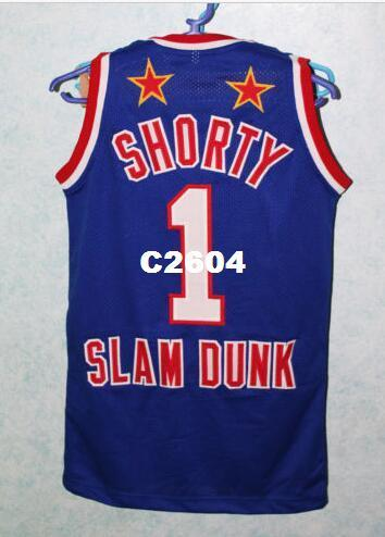 "Men #1 HARLEM GLOBETROTTERS JERSEY LARRY ""Shorty"" COLEMAN Mesh fabric Full embroidery Size S-4XL or custom any name or number College jersey"