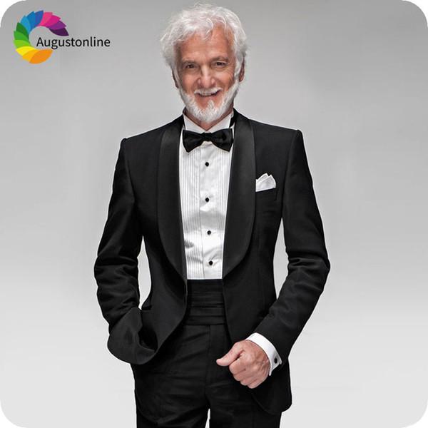 Dark Blue Slim Fit Men/'s Suit Groom Best Man Tuxedos Casual Business Suits