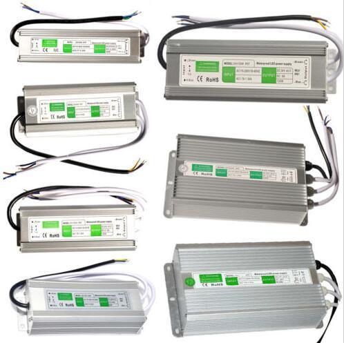 Водонепроницаемый IP67 светодиодный трансформатор 10 Вт 20 Вт 30 Вт 45 Вт 50 Вт 60 Вт 80 Вт 100 Вт 120 Вт 150 Вт светодиодный источник питания AC 90V-250V DC 12V Бесплатная доставка