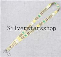 One piece Mobile Phone yellow Chain with Star Image Chain new Straps Lanyard ID Badge Holders Mobile Neck Key chain