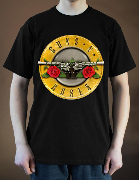 GUNS N 'ROSES Band Logo ver. 5 T-Shirt (Schwarz) S-5XL