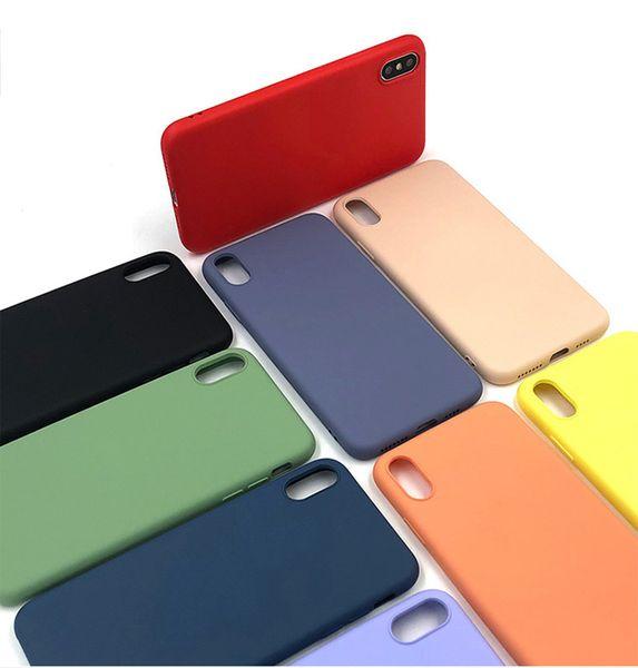 iphone 6 Bonbons Couleurs iphone 6s / 6 plus / x / xs / xr liquide Silicone Case à bas prix