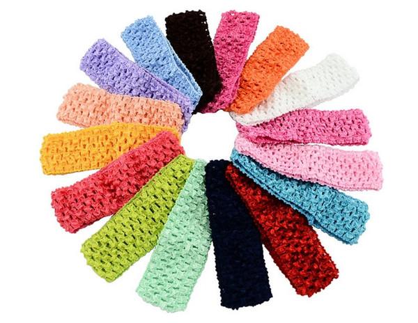 Perforated elastic hairband Newborn Infant baby girl Top TuTu crochet headband Bow children hair accessories A130