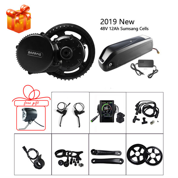 E-bike BBS02B BBS02 48V 750W Mid Motor With Lock Battery 12Ah Built in Samsung Cell Motor Kits For Electric Bicycle Bafang Parts