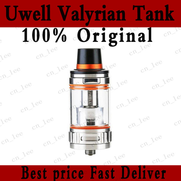 100% Original Uwell Valyrian Tank 5ml Top Refilling Vape Sub Ohm Atomizer with Interchangeable Coil Pins DHL Free