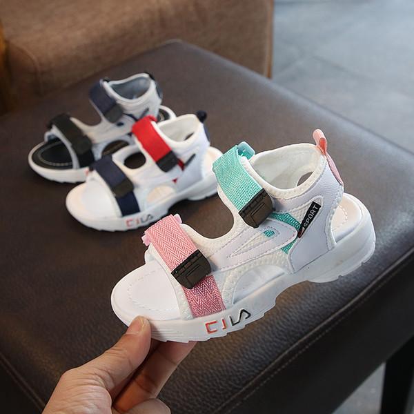 Designer Crianças Sandálias Sapatos Crianças Sapatos Casuais Respirável Macio e Confortável Bebê Meninos Meninas Meninos Kid Sandália Sapatos de Praia