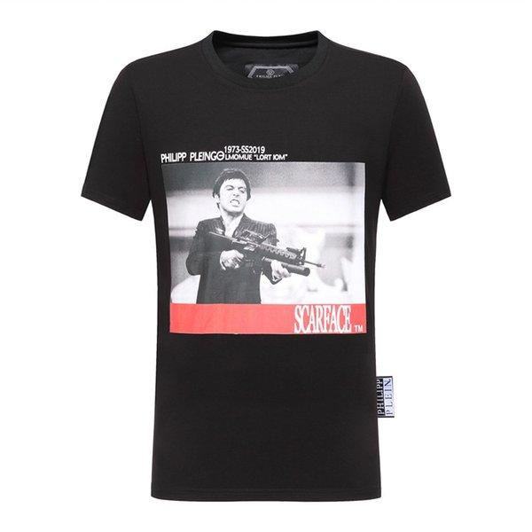 d57ffa51dd950 Tony montana T Camisas de Hip Hop Dos Homens Designer de Camisas de Marca  de Moda
