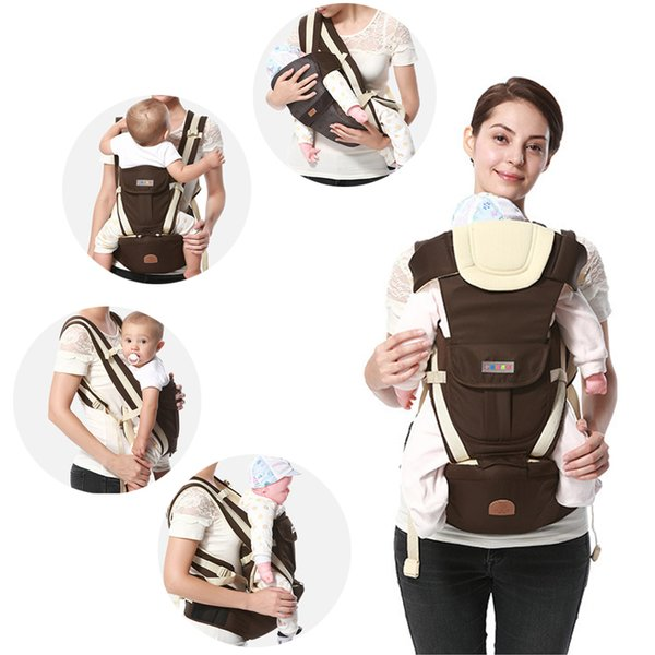 Ergonomic Baby Carrier Backpack Breathable Bebe Kangaroo Hipseat Mochila Toddler Infant Sling Waist Stool Removable Y190522