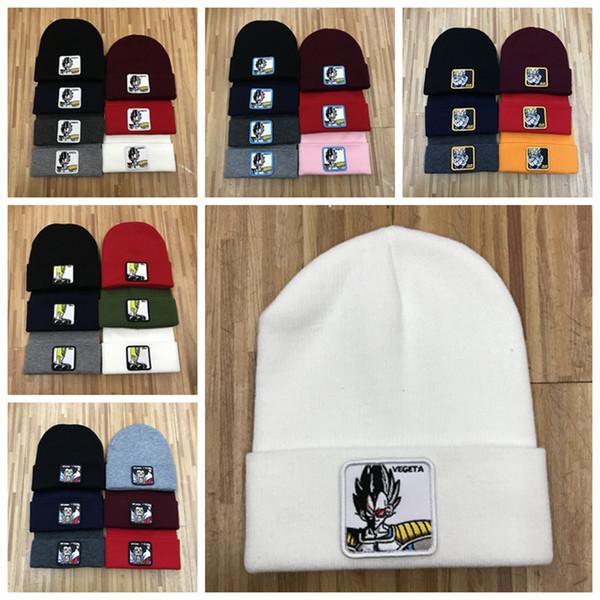 NOUVEL hiver unisexe casquettes hommes mode tricoté chapeau classique sport crâne casques Casual bande dessinée en plein air Anime tricot chapeau bonnet de broderie ZZA840