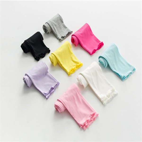 Baby Girl Summer Candy Color Leggings Toddler Thin Tights Cropped Skinny Bottom Pants Little Girl Summer Cropped Pants