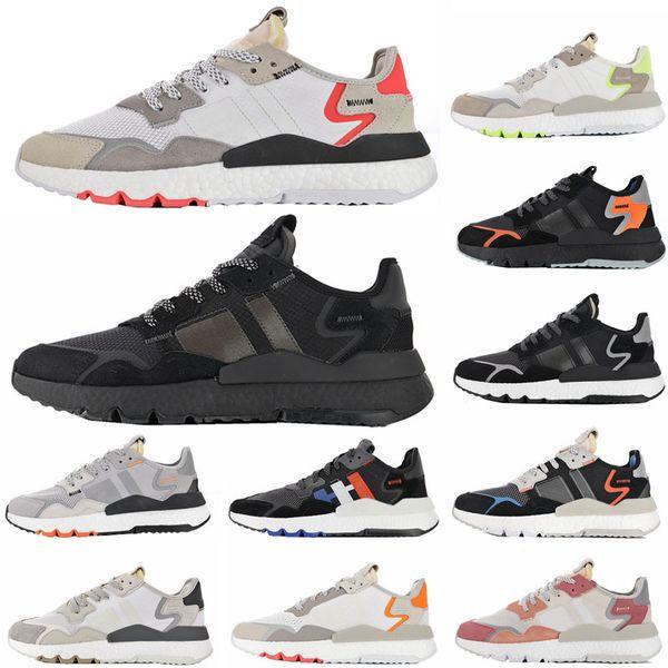 Nite Jogging Yapan Koşu Ayakkabıları Moda Retro CG7088 3 M Patlamış Mısır Tasarımcı Ayakkabı Spor Rahat Yürüyüş Açık Havada Atletik Sneakers Boyutu 36-45