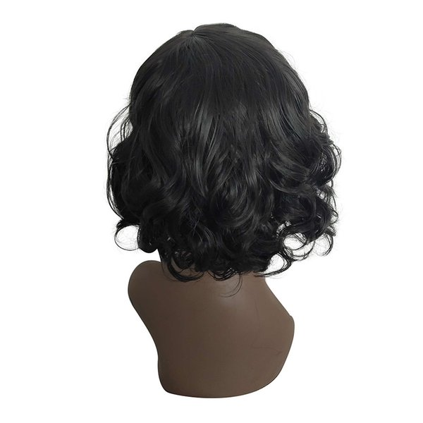 Factory price 1pc Women Fashion Lady Black Short Straight Bobo Wig Front Hair Side-parted Wigs Fashionable Wigs Stand Mar15