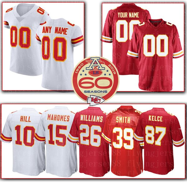 Maglia Chiefs personalizzata Kansas City 25 Charles 55 Ford 13 DeAnthony Thomas 56 Johnson 19 Montana 32 Ware 72 Fisher 22 Peters maglie