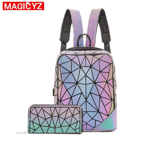 New 2019 Luminous Rucksäcke für Frauen Set Travel Rucksäcke Damen Täglich backbag Mochilas Weibliche Umhängetasche Jungen Mädchen Rucksack