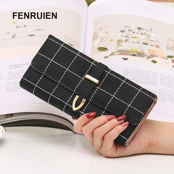 Wallet Woman Long Fund Ways Matting Package Type Three Fracture Square Wallet Capacity Mix Small Change Package women wallets