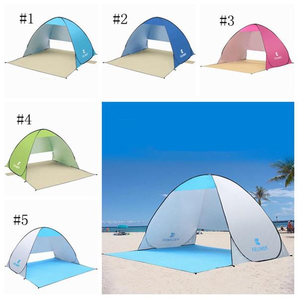 Outdoor-Strandzelte Tragbare Unterstände Schatten UV-Schutz Ultraleicht Zelt zum Angeln Wandern Picknick Park Strandzelt K405
