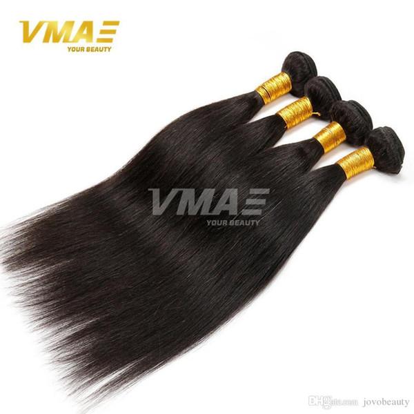Малайзии Девы Прямые Волосы 3 Шт. Девы Малайзии Прямые Человеческие Волосы утки Плетение Пучки Расширения