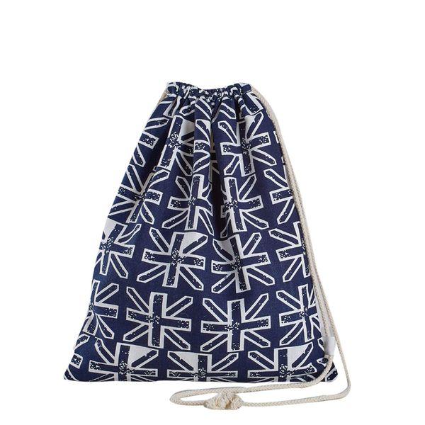 Polyester Drawstring Bag Teenager Boys Girls Shoulder Backpack Shopping Bags Travel Storage Package Geometry Pattern Wholesale