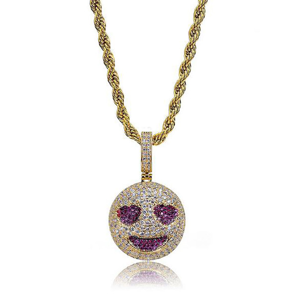 grinning face+rope chain