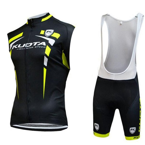 Tour de France KUOTA 2019 pro team Cycling Sleeveless jersey Vest (bib) shorts sets cycling clothing breathable Quick dry outdoor MTB suit