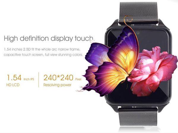 Z60 intelligente orologio Bluetooth Android IOS Phone Call 2G GSM SIM TF card Fotocamera Smartwatch Twitter, Facebook PK DZ09
