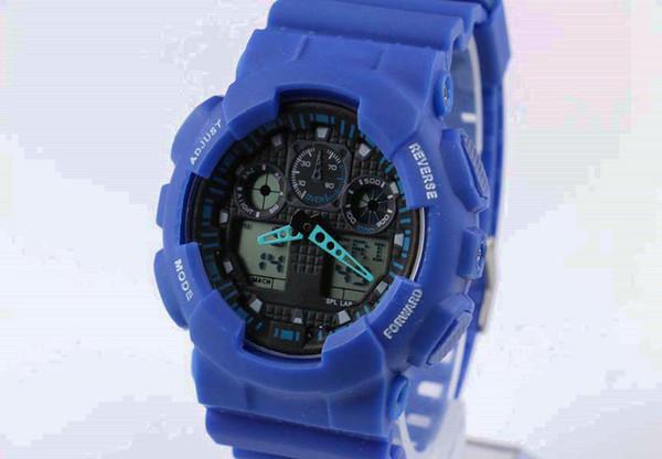 40pcs/lot Electronics Sports Casual Watches Men Waterproof G100 Digital LED Mens Womens Running Watch Women Boys Girls Free Shipping