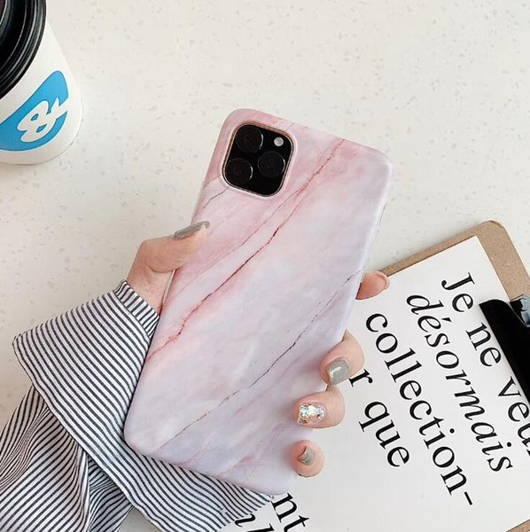 New iPhone11Pro max marble pattern for IPHONE XS MAX mobile phone case 7P all-inclusive imd soft shell xr iphone charger cable