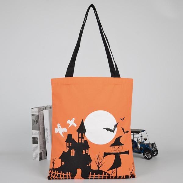 завод цена 20шт New Halloween Сакс сумка Холст Персонализированные Дети конфеты подарки сумка тыквы Паук лакомств или трюк шнурком Сумки WN376