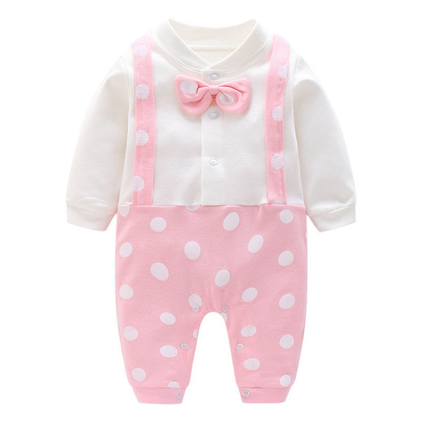 good quality spring autumn newborn baby rompers infant girls cotton long sleeve jumpsuits infant girls cartoon sleepwear clothing
